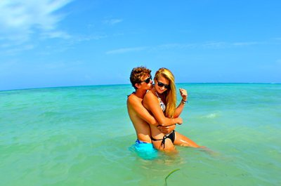 beach, boy and girl, couple, cute, fashion