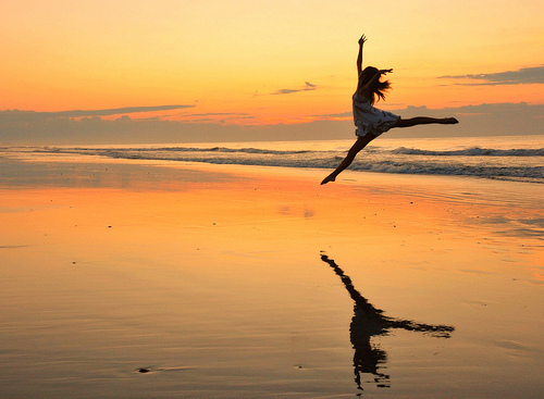 beach, cool, cute, girl, jumping