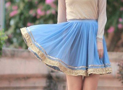 beaded, blue, fashion, glitter, light blue, paljetto, pearls, skirt