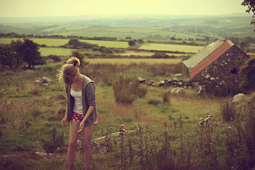 beautiful, blonde, camp house, girl, house, landscape, nature, photography