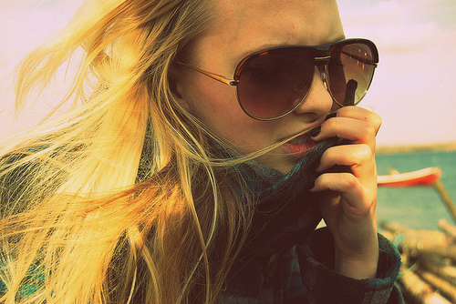 beautiful, blonde, fashion, girl, glasses
