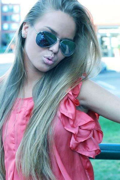 beautiful, blonde, girl, lips, summer, sunglasses