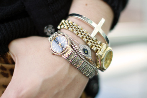 beautiful, bracelet, fashion, girl, gold