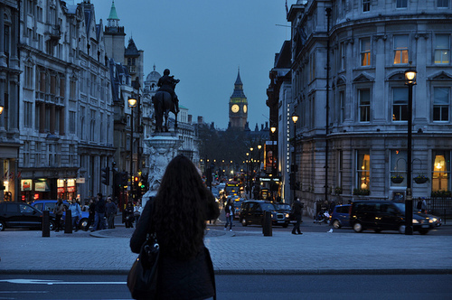 beautiful, city, light, london, london in winter, night