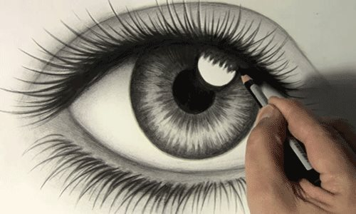 beautiful, eye, nice, pencil
