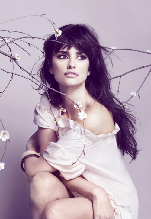 beautiful, fashion, flowers, hair, penelope cruz