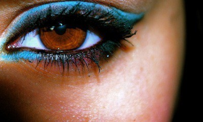 beauty, blue eyeshadow, brown eyes, make, make up