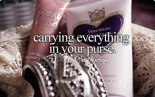 beauty rush, girly things, things in purse, vera wang