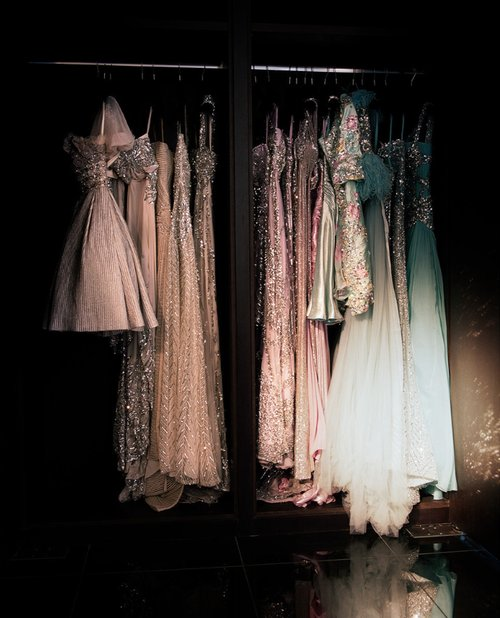 beleza, blue, closet, cream, dresses