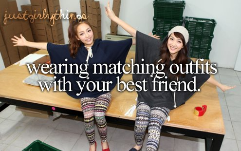 best, friend, just girly things, justgirlythings, matching, outfits