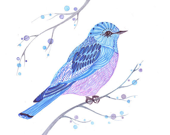 birds, colors, colours, cute, drawing, painting, pretty