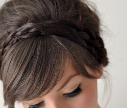 bish, braid, brunette, fashion, girl, hair, hairstyle, pretty, princess, sophisticated, updo, vintage, woman