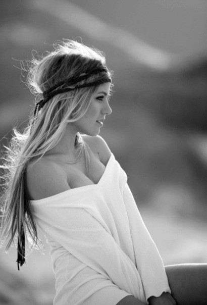 black and white, blonde, bohemian, fashion, girl