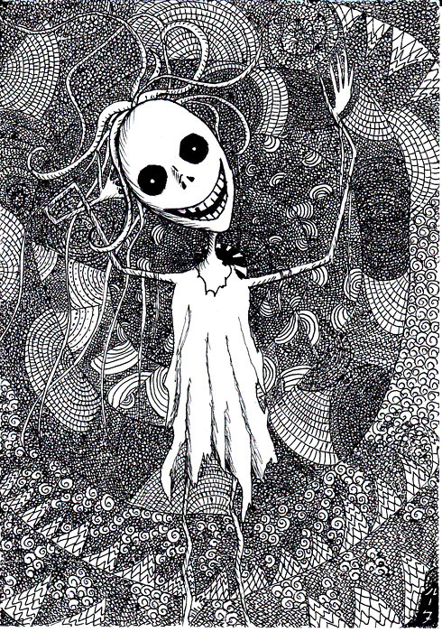 black and white, creepy, graphic art, imagination, insane