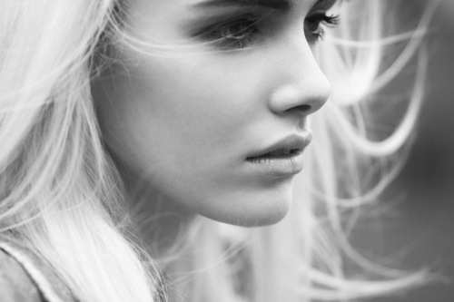 black and white, dream, face, fashion, girl, hair, hairstyle, life, live, photo, photography, pose, profile, style