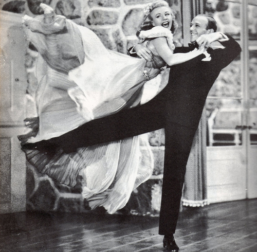 black and white, fred astaire, ginger rogers, old hollywood, photography