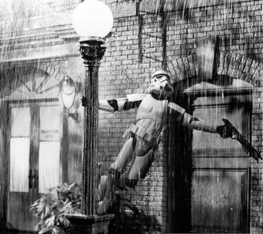 black and white, funny, lol, movie, singin in the rain, star wars