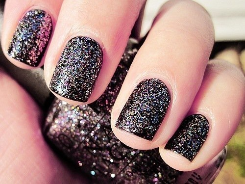 black, design, glitter, nail art, nail polish