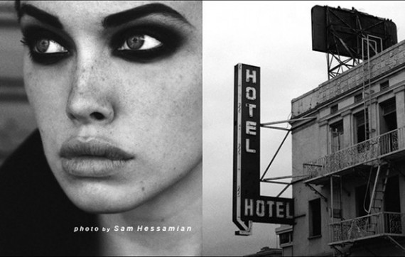 black, face, girl, gray, hotel