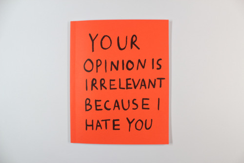 black, hate, opinions, orange, paper, text, wahite, wall