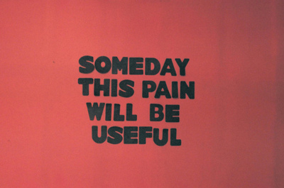 black, pain, quote, red, someday