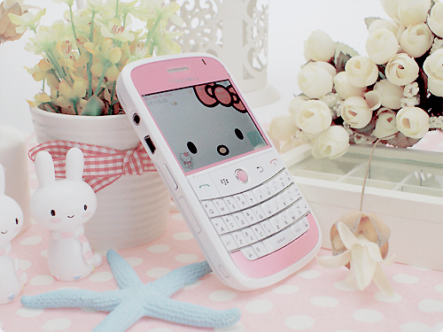 blackberry, cute, hello, kitty, phone, photography