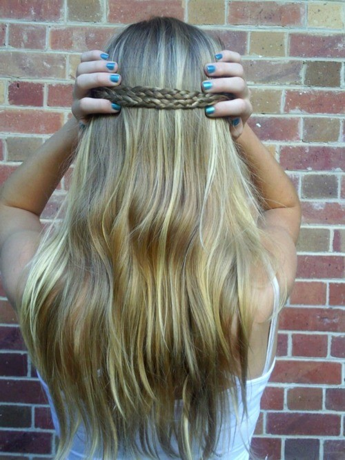 blond, blonde, blonde hair, braid, cute