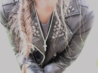 blonde, braid, cross, fashion, girl