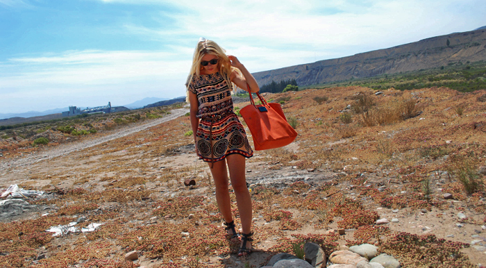 blonde, chile, cloths, desert, dress
