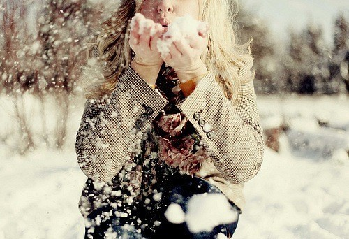 blonde, cold, color, cute, female, girl, nice, photo, photograph, photography, picture, season, snow, winter, woman