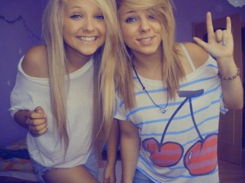 blonde hair, friends, girl, girls , long hair