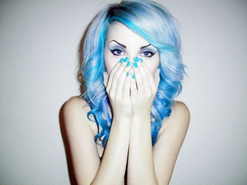 blue, blue hair, color and fashion
