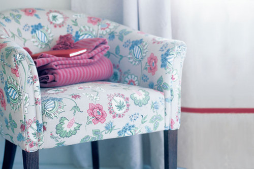 blue, chair, decor, flowers, girly