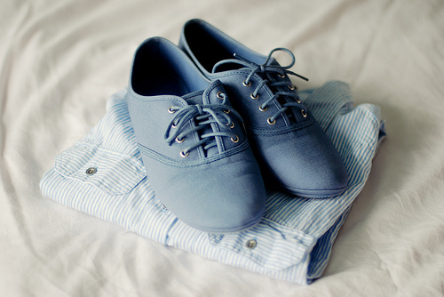 blue, cute, fashion, lovely, oxford, shirt, shoes, vintage
