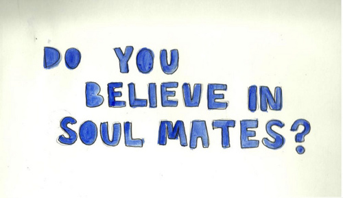 blue, cute, love, question, soul mates