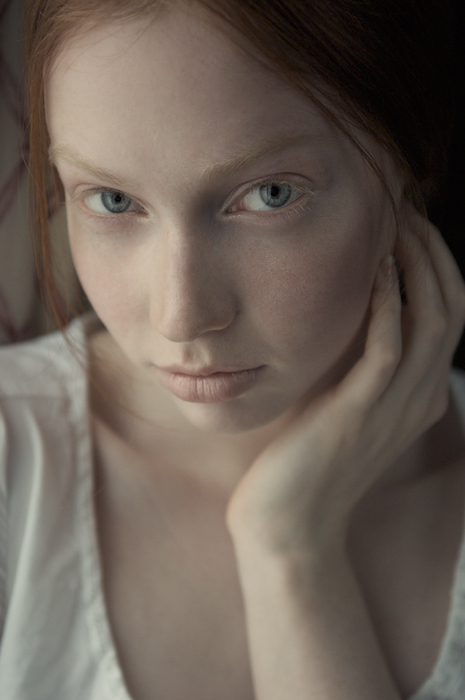 blue eyes, delicate, deviantart, elf, face, fragile, ginger, hair, micmojo, pale, photography, portrait, red hair, redhead