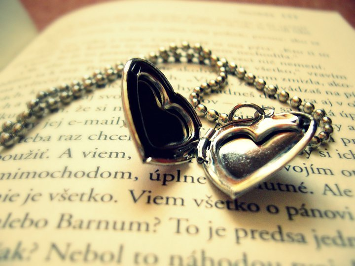 book, heart, love, necklase