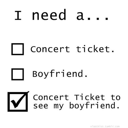 boyfrien, concert, concert ticket, couple, cute