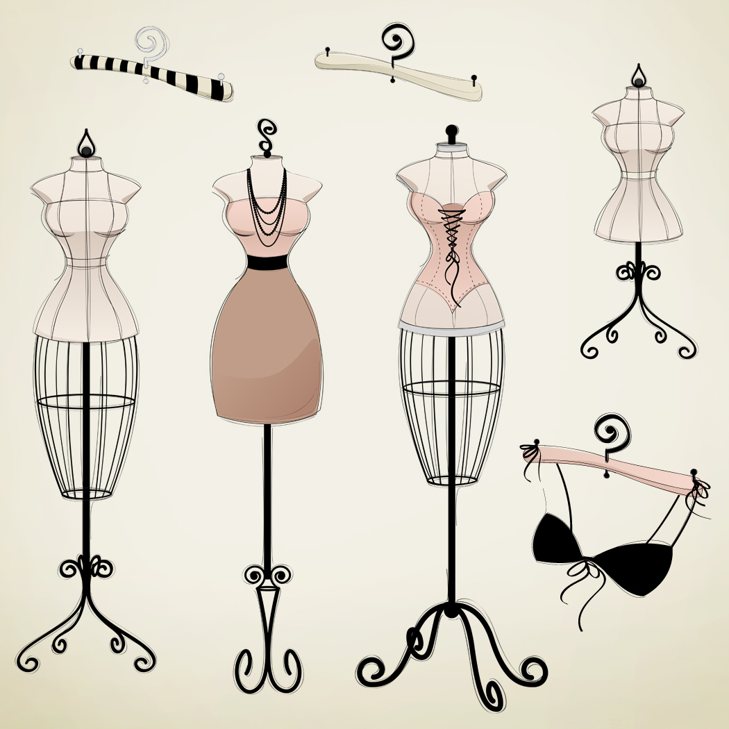 bra, cartoon, corset, dress, lingerie