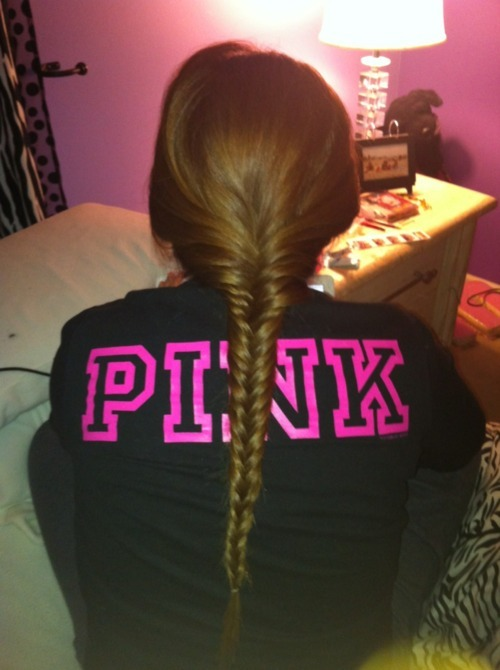 braid, brown hair, brunette, girl, good, hair, long hair, love pink, nice, photography, pink, pretty, shirt, victoria secret, wow