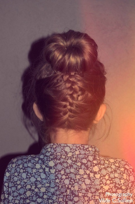 braid, bun, cool, fashion, hair