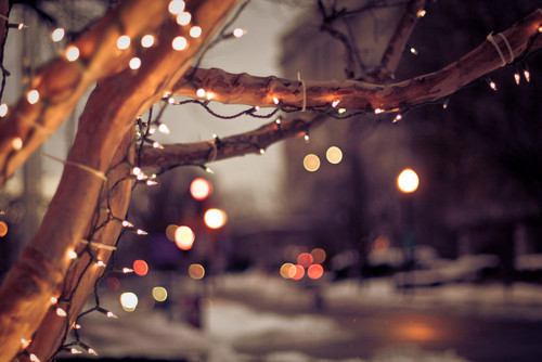 bright, christmas, decorations and lights