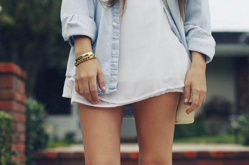 brunette, cool, dress, fashion, girl, jeans, legs, style, white dress
