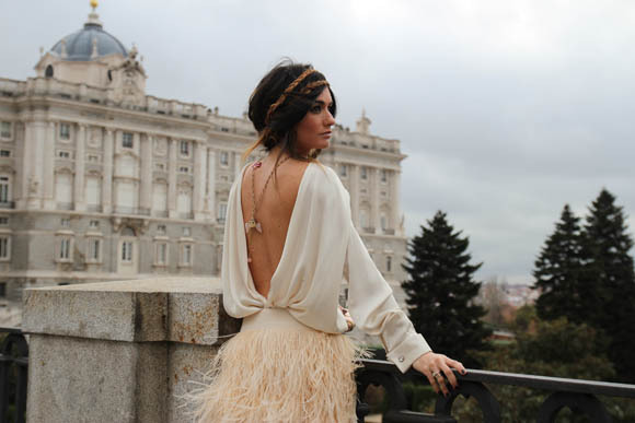 building, fashion, feathers, fringe, girl