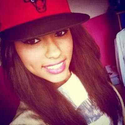 bulls, chicago, dimple, dope, eyes, girl, hair, pretty, smile, snapback, straight hair