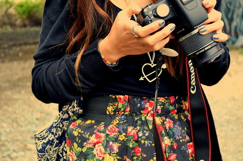 camera, canon, colar, girl