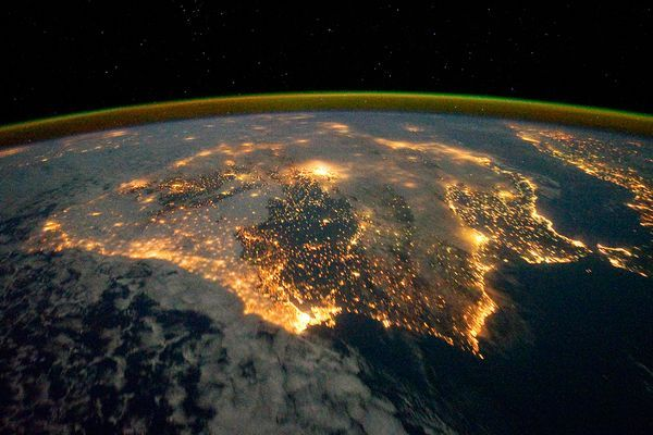 camera, cool, earth, iberian, iberian night, international space station, light, nasa, national geographic, news, photography, picture, sky