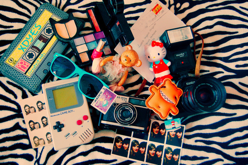 camera, cute, girl, hellokitty, makeup