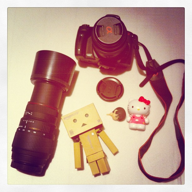 camera, danbo, hello kitty, sigma, sony