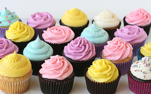 candy, colorful, colors, cupcake, cupcakes, cute, fat, food, nomnomnom, pink, red, sin, sugar, sugary, sweet, yellow